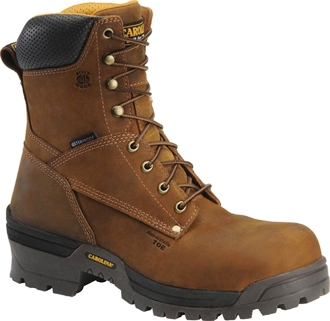 "Men's Carolina 8"" Composite Broad Toe WP Logger Work Boot CA8525"