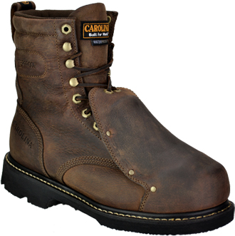 "Men's Carolina 8"" Steel Toe WP Metguard Work Boot CA5502"