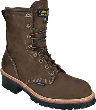 "Men's Carolina 8"" Steel Toe WP Logger Work Boot (U.S.A.) CA1919"