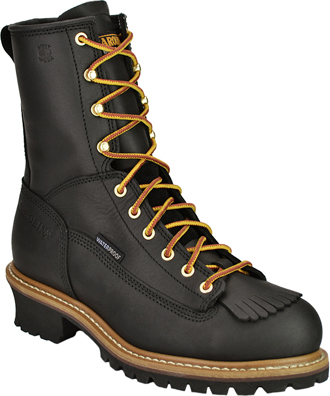 "Men's Carolina 8"" Steel Toe WP Logger Work Boot CA9825"