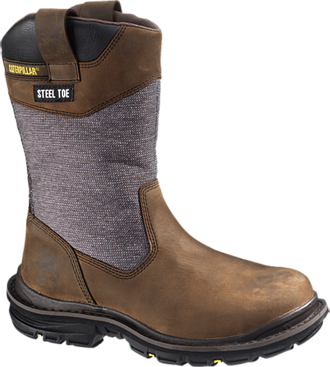 "Men's Caterpillar 11"" Steel Toe WP Wellington Work Boot P90102"
