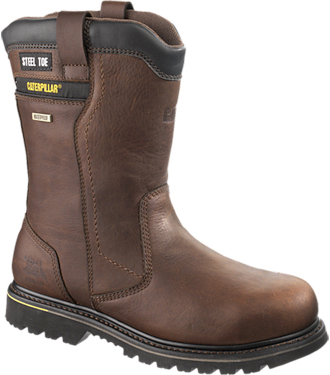 "Men's Caterpillar 10"" Steel Toe WP Wellington Work Boot P90041"