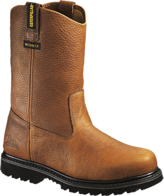 "Men's Caterpillar 10"" Steel Toe Wellington Work Boot P90085"