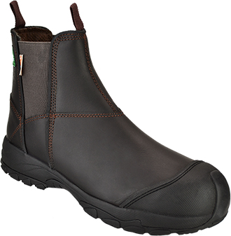 "Men's Dawgs 6"" Composite Toe Pull-On Work Boot DAWGS-CTL6IPOSB-Brown"