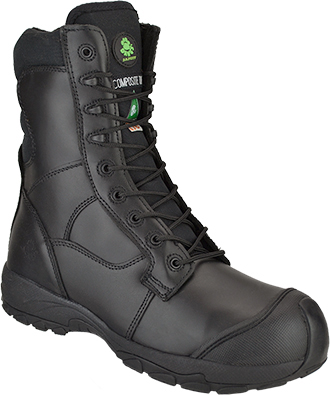 "Men's Dawgs 8"" Composite Toe Side-Zipper Work Boot DAWGS-CT8IZLSB-Black"