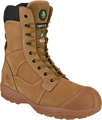 "Men's Dawgs 8"" Composite Toe Side-Zipper Work Boot DAWGS-CT8IZLSB-Sand"