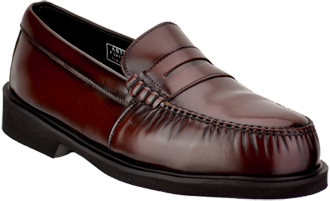 Men's STS Burgundy Executive Steel Toe Slip-On Penny Loafer Z-STS200