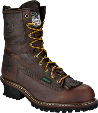 "Men's Georgia Boot 8"" Steel Toe WP Logger Work Boot G7313"