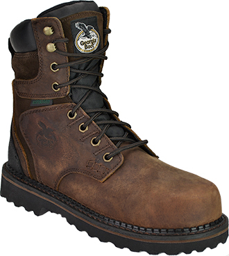 "Men's Georgia Boot 8"" Steel Toe WP Work Boot G9334"