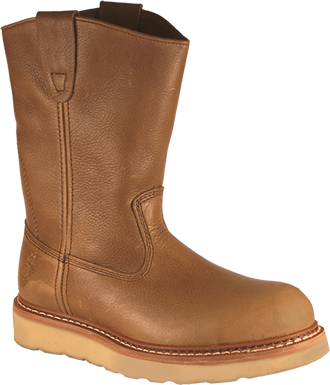 "Men's Golden Retriever 10"" Steel Toe Wellington Work Boot 9956"
