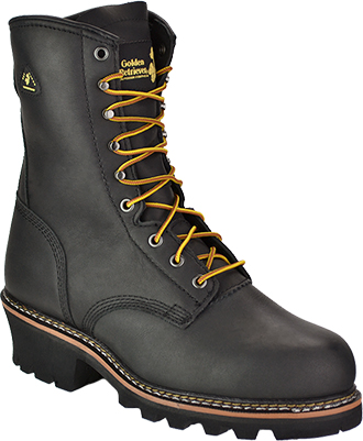 "Men's Golden Retriever 9"" Steel Toe WP Logger Work Boot 9097"