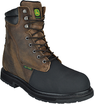 "Men's John Deere 8"" Flame Resistant Composite Toe Metguard Work Boot JD8370"