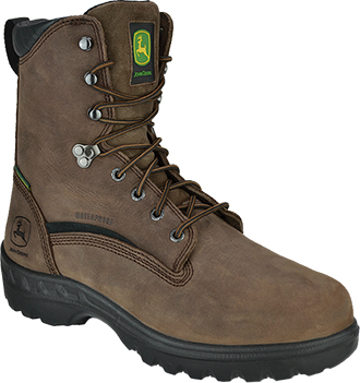 "Men's John Deere 8"" Steel Toe WP Metguard Miner Work Boot JD8601"