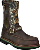 "Men's John Deere 11"" Steel Toe Wellington Side-Zipper Work Boot JD4358"