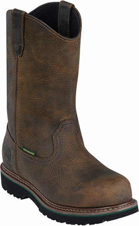 "Men's John Deere 10"" Steel Toe WP Wellington Work Boot JD4382"