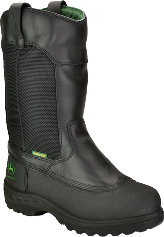 "Men's John Deere 12"" Steel Toe Metguard Miner WP/Insulated Wellington Boot JD9600"