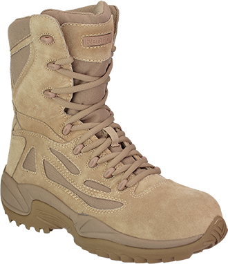 "Men's Reebok 8"" Composite Toe Metal Free Side-Zipper Work Boot RB8894"