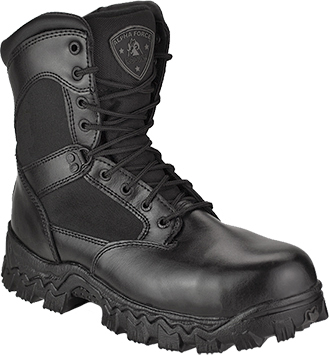 "Men's Rocky 8"" Composite Toe WP Side-Zipper Work Boots 6173"