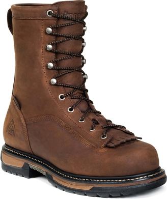 "Men's Rocky 9"" Steel Toe WP Work Boot 6698"