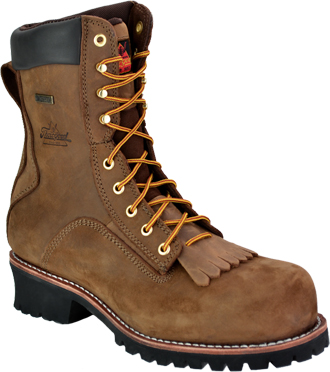 "Men's Thorogood 8"" Composite Toe WP Logger Work Boot 804-3556"