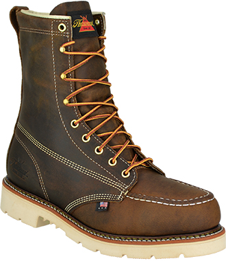 "Men's Thorogood 8"" Steel Toe Work Boot (U.S.A.) 804-4378"