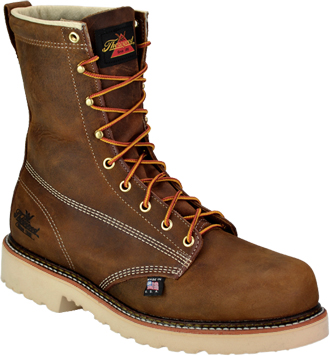 "Men's Thorogood 8"" Steel Toe Work Boot (U.S.A.) 804-4379"