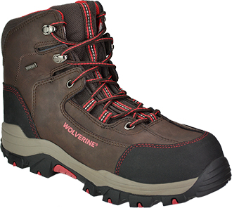 "Men's Wolverine 6"" Composite Toe WP Hiker Work Boot W10074"