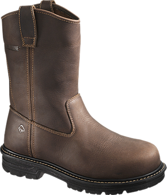"Men's Wolverine 10"" Composite Toe WP Western Wellington Work Boot W10108"