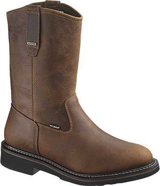 "Men's Wolverine 10"" Steel Toe WP Wellington Work Boot W10084"
