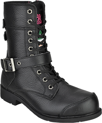 "Women's Moxie Trades 8"" Steel Toe Side-Zipper Motorcycle Boot 50131"