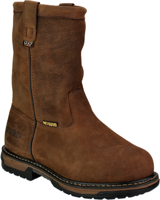 "Men's Rocky 10"" Steel Toe WP Wellington Metguard Work Boot 6468"