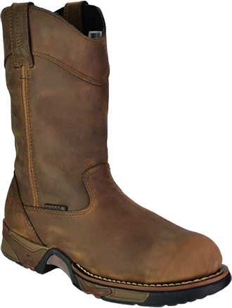 "Men's Rocky 11"" Steel Toe WP Wellington Work Boot 6639"
