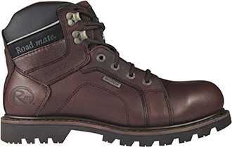 "Men's Roadmate 6"" Steel Toe WP Work Boot Gravel-S-M-WP"