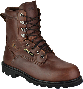 "Men's Rocky 8"" Steel Toe WP Work Boot 6224"