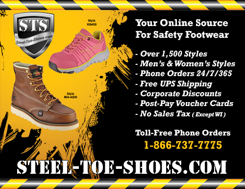 FREE Steel-Toe-Shoes.com 22X16 Inch Workplace Display Poster