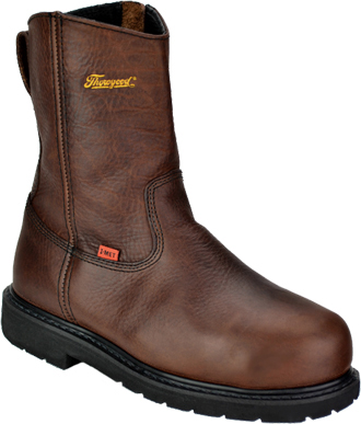 "Men's Thorogood 8"" Steel Toe Wellington Metguard Side-Zipper Work Boot 804-4132"
