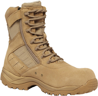 "Men's Tactical Research 8"" Composite Toe Side-Zipper Metal Free Boot TR336ZCT"