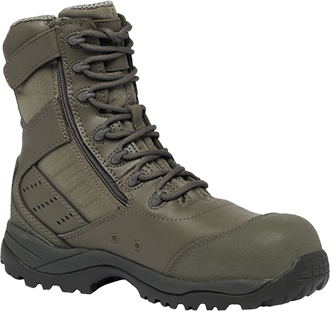 "Men's Tactical Research 8"" Composite Toe Side-Zipper Metal Free Boot TR636ZCT"