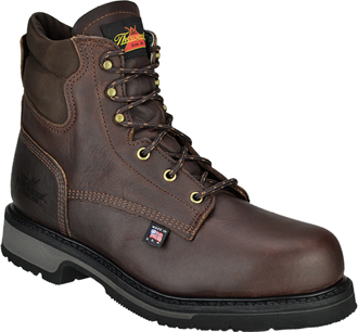 "Men's Thorogood 6"" Steel Toe Work Boot (U.S.A.) 804-4203"