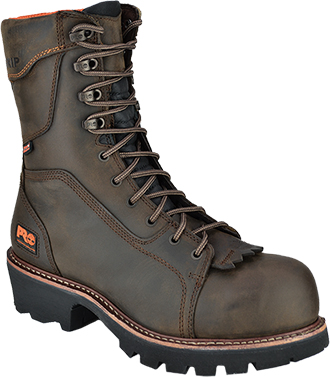 "Men's Timberland 9"" Composite Toe WP/Insulated Logger Work Boot 89656"