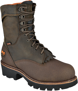 "Men's Timberland Pro 9"" Steel Toe WP Logger Work Boot 91640"