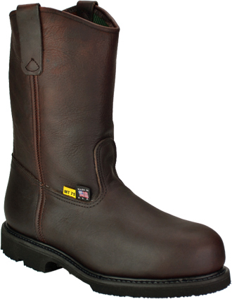 "Men's Work One/Thorogood 10"" Steel Toe Wellington Metguard Work Boot (U.S.A.) I707  