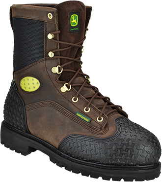 "Men's John Deere 9"" Steel Toe Metguard Miner WP/Insulated Work Boot JD9351"