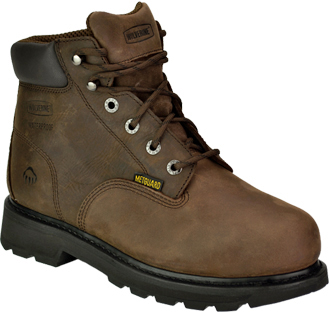 "Men's Wolverine 6"" Steel Toe Metguard WP Work Boot W05679"