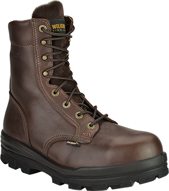 "Men's Wolverine 8"" Steel Toe WP/Insulated Work Boot W03176"