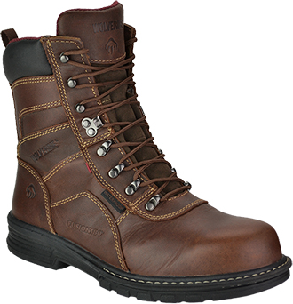 "Men's Wolverine 8"" Steel Toe WP Work Boot W02353"