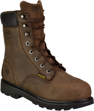 "Men's Wolverine 8"" Steel Toe Metguard WP Work Boot W05680"