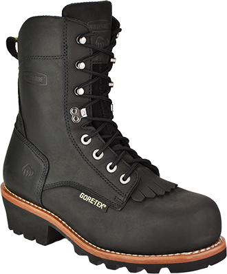 "Men's Wolverine 8"" Steel Toe WP/Insulated Logger Work Boot W05632"
