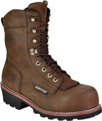 "Men's Wolverine 8"" Steel Toe WP/Insulated Logger Work Boot W05523"
