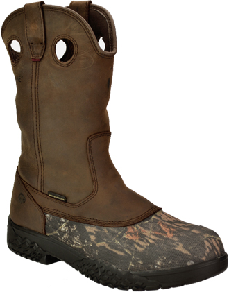 "Men's Wolverine 10"" Steel Toe WP Wellington Hunting Boot W07941"
